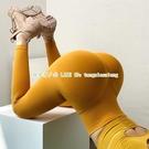 高腰提臀健身褲女高彈力速干緊身運動褲網紅蜜桃瑜伽褲【探索者戶外生活館】