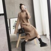 毛衣裙 連體毛衣 中長款過膝古著內搭打底針織連身裙 秋冬新品 超值價