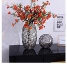 花瓶鑽石星彩色描金玻璃花瓶創意輕奢客廳餐桌裝飾品擺件插花鮮花花器YYS 快速出貨