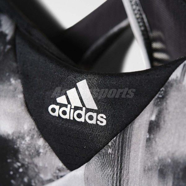 adidas 運動內衣 GT Supernova Bra Q4 灰 黑 交叉肩帶 AX5912