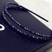 水晶髮圈(任兩件)-精緻美感雙層設計女髮箍2款73gi22[時尚巴黎]