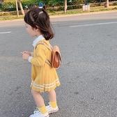 女童針織連衣裙秋裝毛衣裙童裝寶寶韓版洋氣兒童秋季韓版公主裙子 幸福第一站