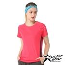 PolarStar 女 排汗運動短袖圓領衫『桃紅』P20128 排汗衣 排汗衫 吸濕快乾 .吸濕.排汗.透氣.快乾.輕量