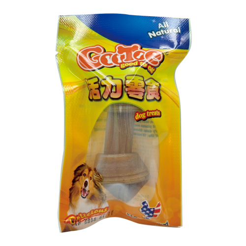 *KING*GOOTOE 活力零食 SR331-雞肉打結骨(花生+紅椒)3吋【即期良品2020.01.11】