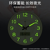 北極星夜光掛鐘臥室靜音創意鐘錶客廳現代時尚石英鐘家用圓形時鐘 酷男精品館