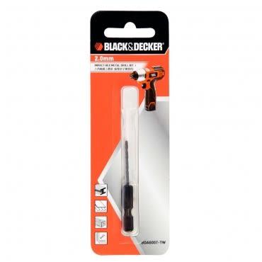 B&D 2.0mm六角軸鐵工鑽頭(衝擊起子機專用)