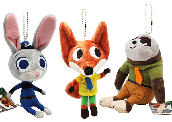 【卡漫城】 動物方城市 吊飾 玩偶 3選1 ㊣版 娃娃布偶 兔子 茱蒂 掛飾 狐狸 尼克 樹櫴 快俠 鑰匙圈