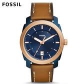 FOSSIL Machine 咖啡色皮革手錶 男