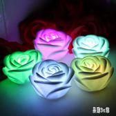 蠟燭 七夕led彩色求婚表白電子玫瑰花大號蠟燭燈創意浪漫情人節禮物 DJ2860『易購3c館』
