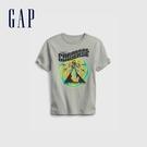 Gap男童 潮酷純棉印花短袖T恤 683400-銀灰色