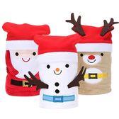【BlueCat】聖誕節聖誕帽腰帶豬豬麋鹿雪人帽子毛毯 懶人毯