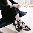 羅馬鞋交叉綁帶低跟【蘇迪蔓】