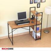 【RICHOME】DE251《RICHOME鋼鐵人雙向書架桌》書架 書桌 電腦桌