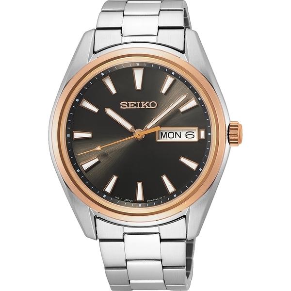 SEIKO 精工 (SUR344P1) 6N53-00A0N 經典簡約腕錶 40mm/玫瑰金框