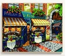 【送外框】diy數字油畫大幅填色畫手繪油彩畫裝飾畫   汪喵百貨