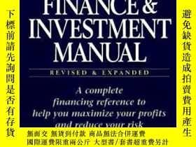 二手書博民逛書店Real罕見Estate Finance And Investment Manual-房地產金融投資手冊Y43