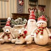 聖誕裝飾飾品聖誕節裝飾品場景布置馴鹿公仔麋鹿雪人老人道具擺件 KV4434 【歐爸生活館】