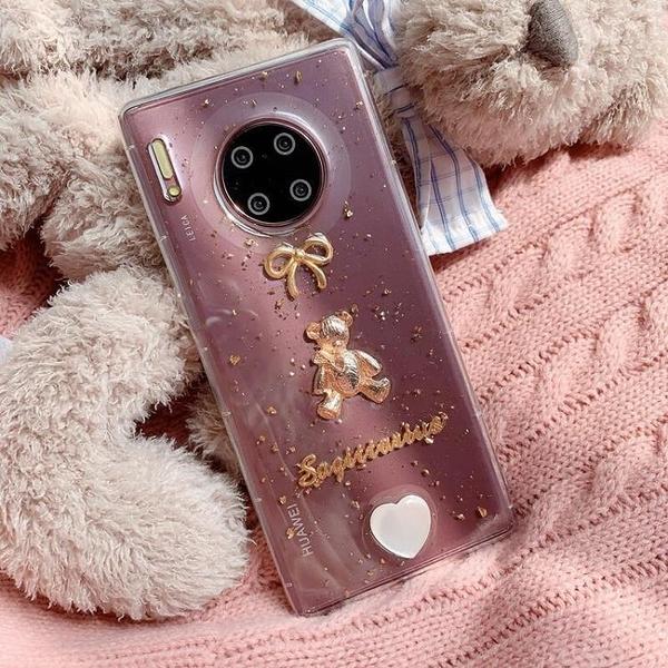 巴洛克小熊榮耀V10 V9手機殼榮耀x10 青春滴膠殼榮耀8 9i軟殼少女