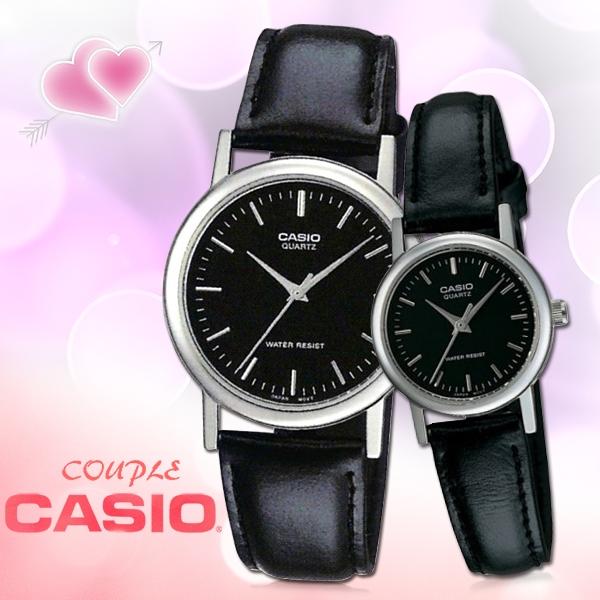 CASIO卡西歐 手錶專賣店 MTP-1095E-1A+LTP-1095E-1A 指針對錶 皮革錶帶 礦物防刮玻璃