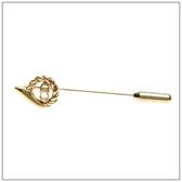 Christian Dior CD金色水滴造型胸針(金色)990194