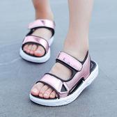 夏季女童涼鞋沙灘鞋公主鞋 寶寶涼鞋兒童鞋 露趾軟底學生涼鞋韓版 qf766【夢幻家居】