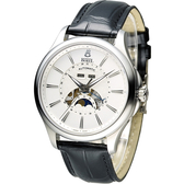 Ernest Borel 依波路 公爵月相顯示機械腕錶 GS7351-28121BK 白