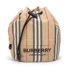 BURBERRY經典ECONYL再生尼龍束口包/水桶包(典藏米色)083267