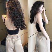 吊帶背心女短款露背內搭緊身打底無袖上衣外穿街頭風 S-XL 三色可選