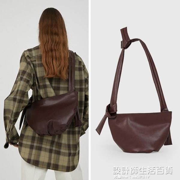 包包2020秋冬新款小眾潮設計軟面單肩包街拍潮斜背包托特包大包 設計師生活百貨