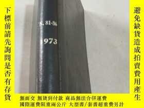 二手書博民逛書店NITROGEN罕見Nos 81-86 1973 氮.Y2128