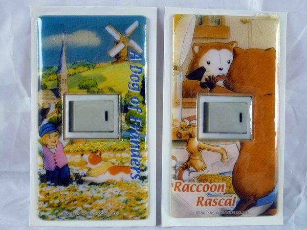 【震撼精品百貨】A Dog of Flanders龍龍與忠狗Raccoon Rascal小浣熊拉斯卡爾~開關貼