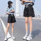 褲子短褲S-5XL實拍大碼牛仔短褲高腰寬...