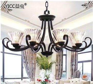 設計師美術精品館美式北歐宜家簡約吊燈歐式水晶燈飾客廳餐廳臥室鐵藝燈具