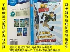 二手書博民逛書店英文原版蘭登英語經典分級讀物第二階罕見Step into reading level 2 5 Wild Creat