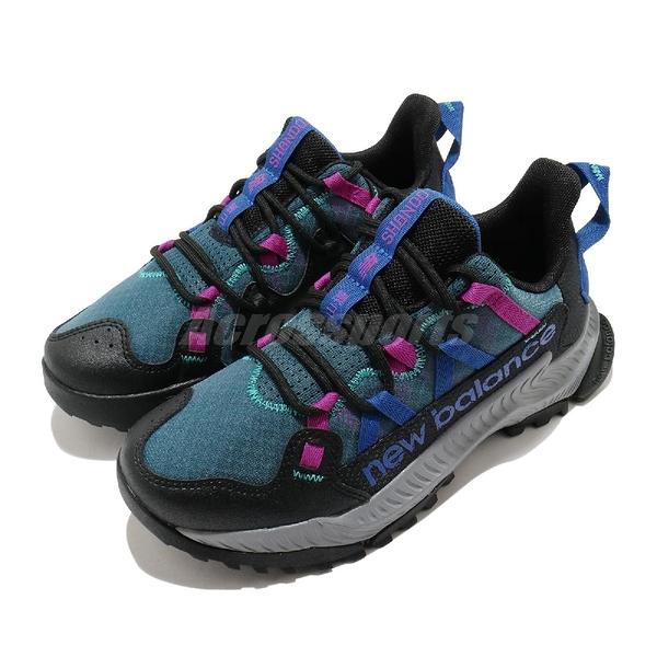 New Balance 慢跑鞋 Shando Wide 黑 藍 寬楦頭 女鞋 復古越野跑鞋 Trail 運動鞋 【ACS】 WTSHALBD