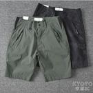 夏季透氣薄款寬鬆休閒短褲男士微彈運動中褲五分褲 快速出貨
