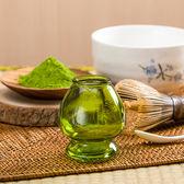 透明抽象茶筅座-抹茶綠 (玻璃茶筅座)/-茶具配件/茶筅立/茶筅座/ 茶筅托/茶刷架/ 茶筅架
