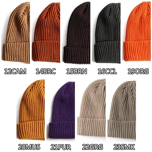 麻花針織毛帽