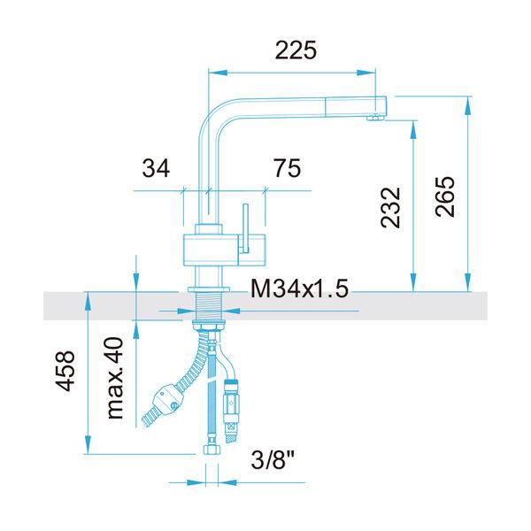 【歐雅系統家具】ARWA 瑞士頂級龍頭  79673-100 伸縮龍頭