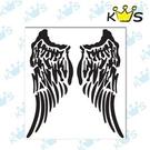 【收藏天地】防水防曬*安全帽 汽機車 浮雕貼紙 -天使翅膀(大) (兩色)
