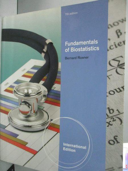【書寶二手書T2/大學理工醫_YDC】Fundamentals of biostatistics_Bernard Ros