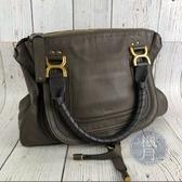 BRAND楓月 CHLOE MARCIE 大象灰色 皮革 手提包 肩背包 托特包
