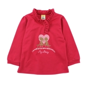 【愛的世界】純棉荷葉領長袖上衣/6歲/10歲-台灣製-  --秋冬上著