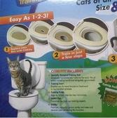 【NF02】貓咪馬桶訓練器 Cilikitty TV產品新款 貓咪如廁訓練器 寵物貓墊廁所 PVC環保墊