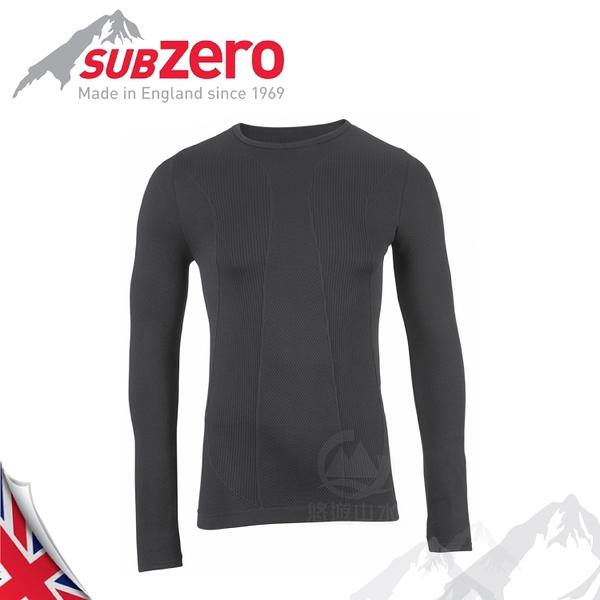 【Sub Zero 英國 兒童 Factor1+ 長袖無縫排汗衣《黑》】Factor 1 PLUS/內衣/薄長袖/防曬