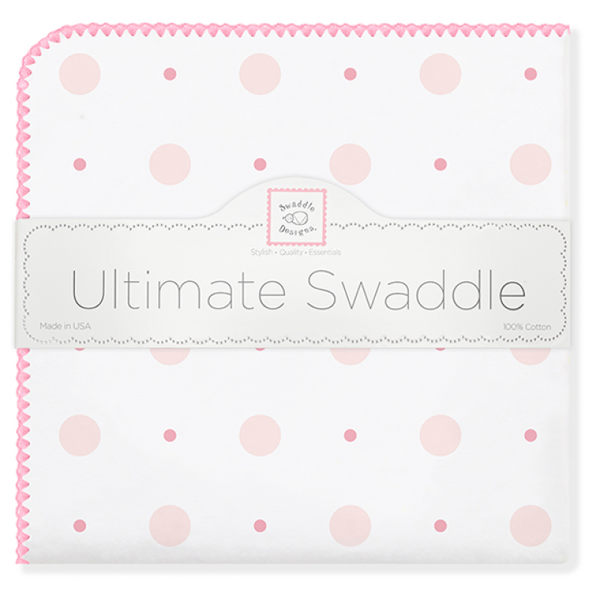 美國多用途法蘭綿絨包巾(厚): 粉色點點: SD-492P