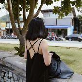 DAC2018新復古性感露背長裙海邊沙灘裙開叉度假裙吊帶連衣裙長夏【快速出貨79折促銷】