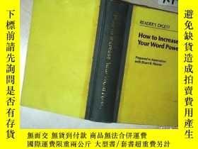 二手書博民逛書店HOW罕見TO INCREASE YOUR WORD POWER 如何提高你的話語能力 16開 02Y2611