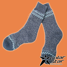 【PolarStar】羊毛保暖雪襪『深藍...