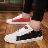 男鞋春季潮鞋新款韓版百搭帆布鞋青少年板鞋子潮流透氣休閒鞋        檸檬衣舍